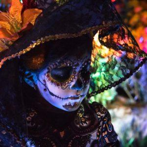 Dias de los muertos, jeune fille méxicaine à Campeche, Méxique