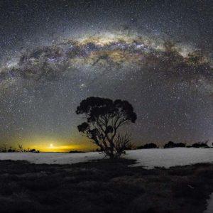 La voie lactée un soir de printemps à Hotham, Australie