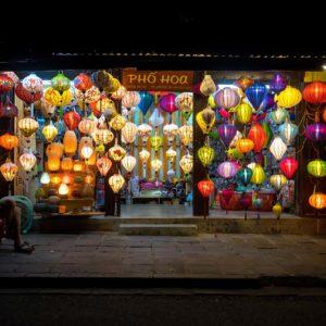 Boutique de lanterne à Hoi An, Vietnam