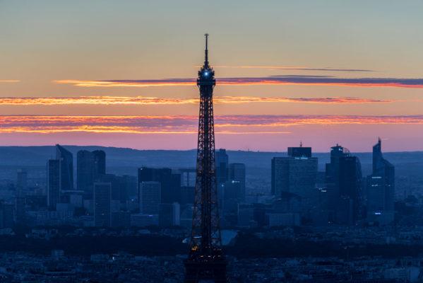 La tour eiffel vue depuis la tour Montparnasse