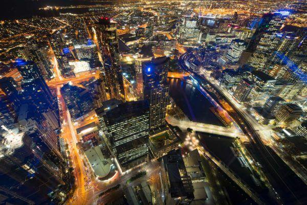 Vue de Melbourne en Australie depuis la Eureka Tower.