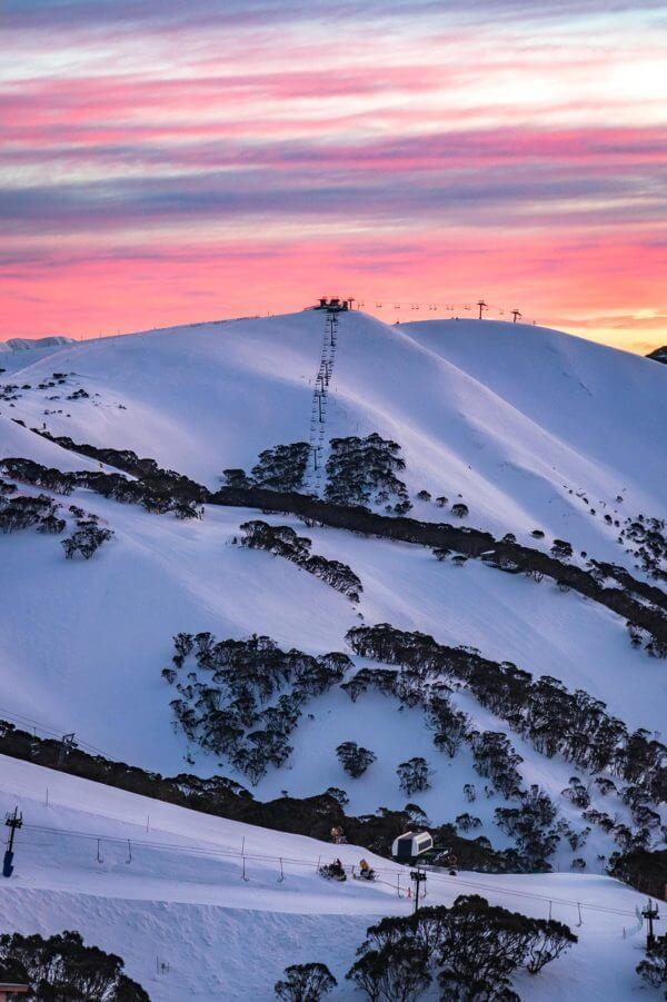 Lever de soleil à Hotham en Australie