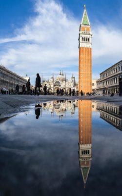Basilique et campanile Saint Marc à Venise, Italie