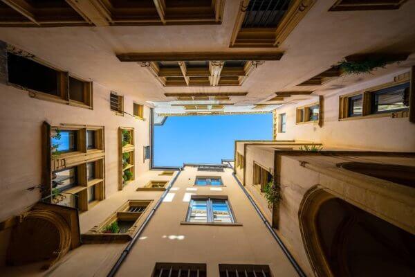 cour intérieur d'un immeuble du vieux Lyon