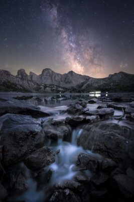 Voie lactée au lac d'Allos dans le Mercantour